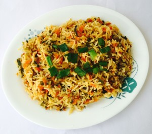 Spinach & Carrot Rice