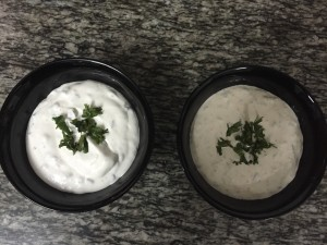 Cream Cheese & Walnut Dip on the right