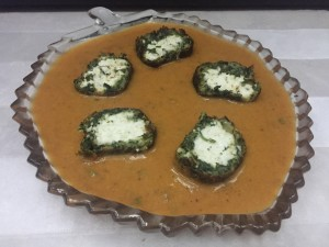 Paneer Stuffed Spinach Koftas in Makhani Gravy